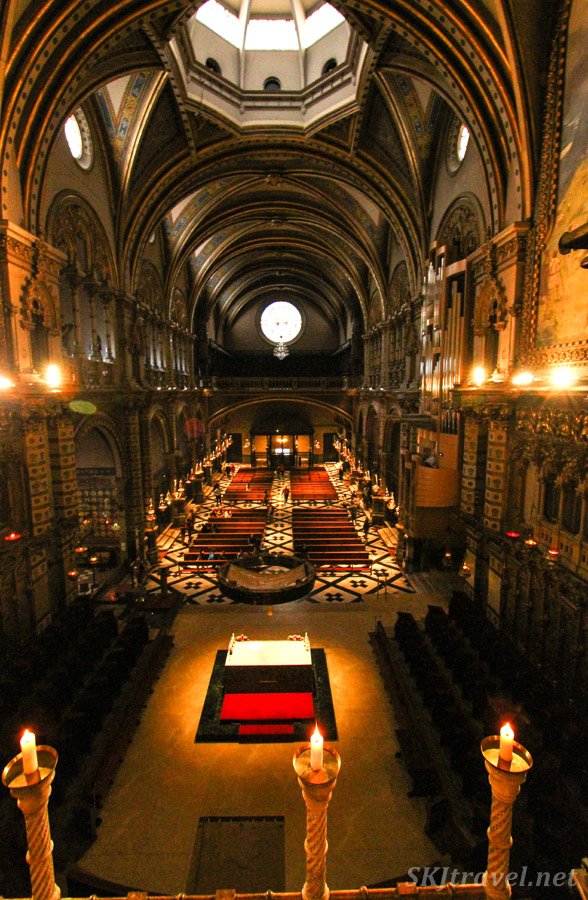 The main sanctuary at the monastery of Montserrat, Spain.