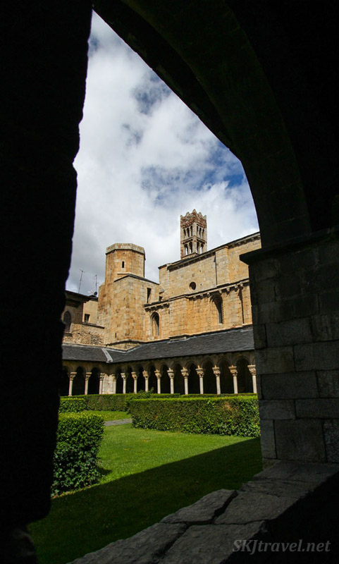Cloister at the abbe of La Seu d'Urgell, Spain.