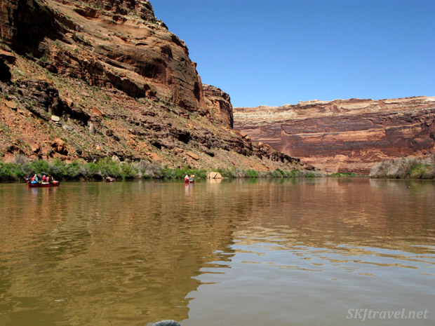 Canoeing peacefully down the Green River, Utah.