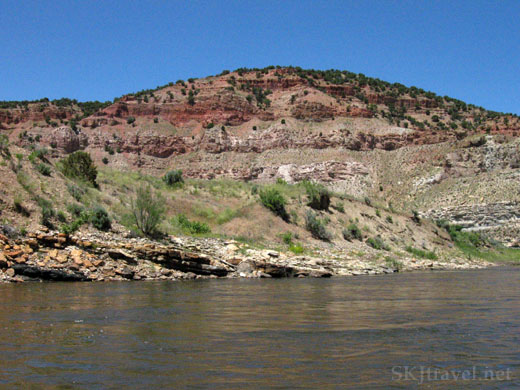 Landscape scenery, red hills, along the Yampa River, Colorado. Photo by Shara Johnson