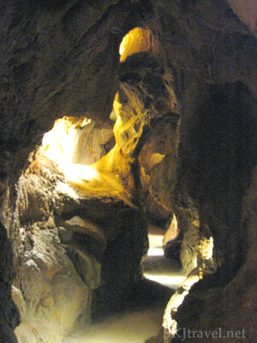 Passageway inside cave in Glenwood Caverns, Glenwood Springs, Colorado.