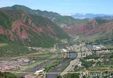 Overlooking Glenwood Springs, Colorado.
